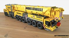 Incredible LEGO model of Liebherr LTM 1750 mobile crane