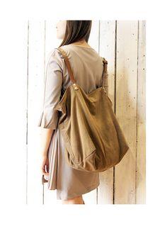 BOUQUET chamois Handmade Italian Tote Handbag backpack 16ee966db0004