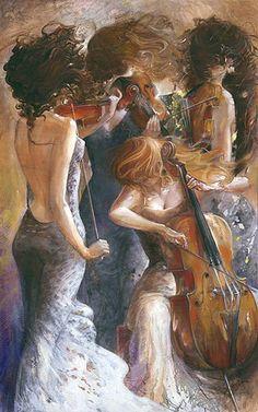 art-and-dream: Art painting wonderful byLena...