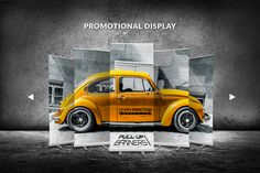 Chain Reaction Graphics on Behance pull up banner design creative black and yellow branding car vehicle signage roll up banner roll-up direction signage display #bradleylancaster Bradley Lancaster bradleylancaster bradleylancaster.com