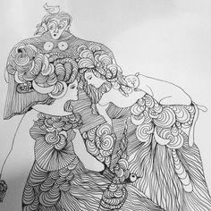 From my sketchbook #janemonicatvedt #drawing #humanfigure #humor #zen #oneness #meditation