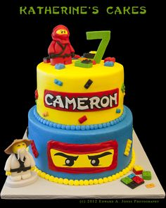 Lego Ninjago Chapter Book Zane Ninja Of Ice Lego Ninjago Cake, Ninjago Party, Lego Cake, Ninja Cake, Ninja Birthday Parties, 7th Birthday, Birthday Ideas, Birthday Cake Pictures, Birthday Cakes