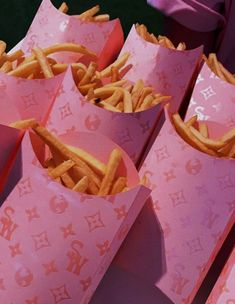 Fancy: There were even french fries in Louis Vuitton-esque monogrammed cartons Boujee Aesthetic, Aesthetic Collage, Aesthetic Pictures, Aesthetic Fashion, Aesthetic Coffee, Aesthetic Black, Aesthetic Bedroom, Aesthetic Grunge, Bedroom Wall Collage