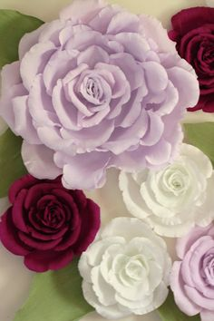 Giant paper flower wall display 5ft x 5ft. by FlowerVoyageBoutique