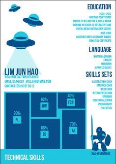 Lim Jun Hao - resume design | Tumblr