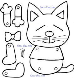 Kitten template using brads