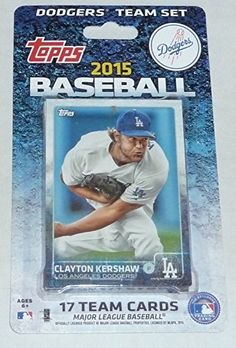 2015 Topps Los Angeles Dodgers Factory Sealed Special Edition 17 Card Team Set with Clayton Kershaw Yasiel Puig Plus
