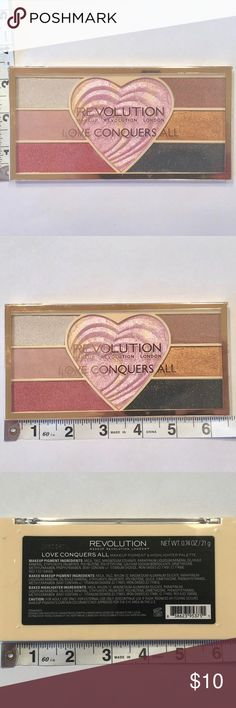 New Makeup Revolution Love Eyeshadow Blush Palette Brand New, never opened or swatched Makeup Revolution London eyeshadow & blush palette! 0.74oz/21g 💄👛Bundle and Save💄👛 Sephora Makeup Eyeshadow