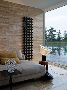 Radiateur à eau chaude / vertical / en aluminium / mural ELEMENTS: ADD-ON by Satyendra Pakhalé  TUBES