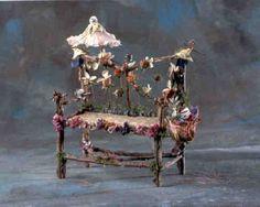 Afternoon at the Opera Loveseat (inspiration)  ********************************************   Isabellalovedparis via Flickr - #fairy #garden #miniature #loveseat #furniture - tå√