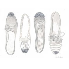 Fashion illustration shoes black and white by illustrationsbyaimee, $15.00