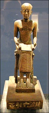 Statue of Imhotep. Ancient Egypt Art, Ancient History, Art History, Historical Artifacts, Ancient Artifacts, Monuments, Kemet Egypt, Egyptian Art, African History