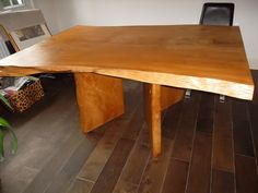 Cedar slab table