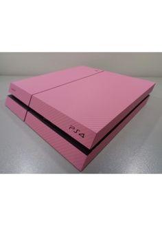 PS4 skin 3d Carbon fiber Pink