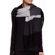 Blue Pacific Cashmere Knit Scarf ($70) ❤ liked on Polyvore featuring accessories, scarves, slate, blue scarves and blue shawl