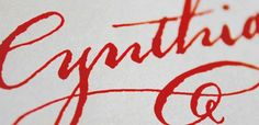 Event calligraphy by Nancy Hopkins Handlettering.  I love how old-fashioned this feels.