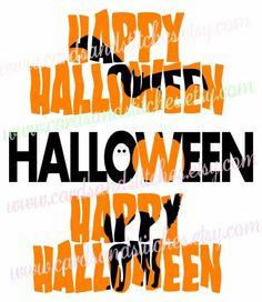 Halloween Knockout Designs - Bat - Pumpkin - Cat - Digital Cutting File - Graphic Design - Instant Download - SVG, DXF, JPG