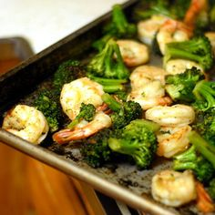 Let the following one-pan wonders be your guide, like this roasted broccoli with shrimp recipe. #healthyrecipes #everydayhealth | everydayhealth.com