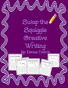 FREEBIE Swap the Squiggle Writing  A fun collaborative writing activity where students take a random squiggle line and create a picture. After students swap and draw several times, the final picture then becomes the springboard for a creative writing story. This file includes 5 premade squiggle templates as well as a blank template.