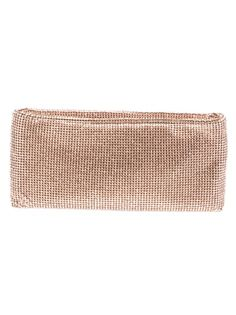 Swarovski studded clutch from Louboutin featuring a top zip fastening a signature red interior and a slip pocket with a designer tag.