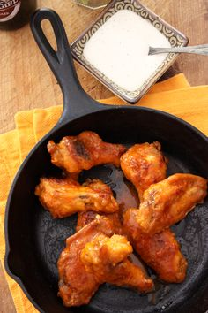 Spicy Baked Hot Wings -- A whole lot of spice makes everything nice -- trappeys.com #trappeys #baked #chickenwings