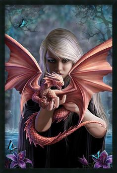Dragonkin by Anne Stokes Framed Painting Print make a nice dragon tattoo