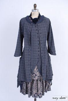 Wildefield Duster Coat in Lakeland Glen Plaid Cotton. By Ivey Abitz.