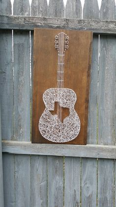 Texas Acoustic Guitar String Art by EricaNailedIt on Etsy