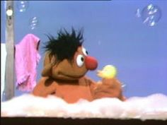 Rubber Duckie, you're the one! You make bathtub so much fun! Rubber Duckie, I'm awfully fond of you