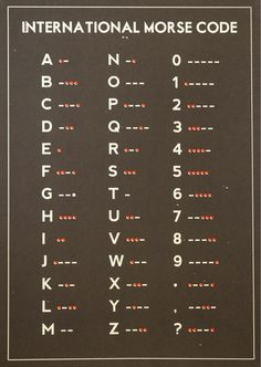 I've always wanted to learn morse code