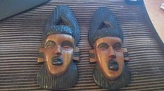 Hand Carved Solid Wood Wall Decor From Africa by JewelryPassport on Etsy