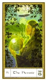 June 18 Tarot Card: The Hermit (Gendron deck) Taking time to retreat from the noise of the world gives your mind the space it needs to connect with your heart and soul