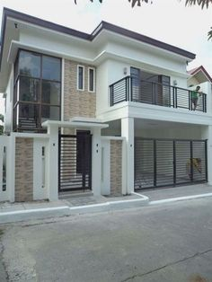 Architectural design is a concept that focuses on components or elements of a structure. An architect is generally the one in charge of the architectural design 2 Storey House Design, Bungalow House Design, House Front Design, Small House Design, Modern House Design, House Design Pictures, Philippines House Design, Philippine Houses, Beautiful Modern Homes