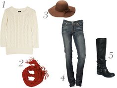 Image detail for - cable-knit-sweater-red-fringe-scarf-7-for-all-mankind-distressed-jeans ...