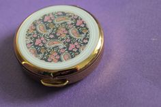 Stratton Pill Box with tweezers Paisley Design Stratton Compact, Scratch And Dent, Paisley Design, Pill Boxes, Bracelet Watch, Birthday Gifts, I Shop, Essentials, The Originals