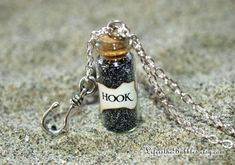 Captain HOOK Magical Necklace with a Pirate Ship Charm, Once Upon a Time, Captain Swan, Storybrooke by Fandom Magic Bottle Charms, Bottle Necklace, Necklace Charm, Cute Jewelry, Jewelry Shop, Unique Jewelry, Jewelry Party, Heart Jewelry, Captain Swan