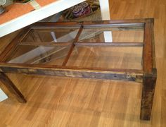 DIY window pane coffee table