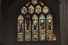 A Bath Abbey window, England. Stained Glass Windows, September, England, Bath, Bathing, Stained Glass, Bathrooms, Stained Glass Panels, English