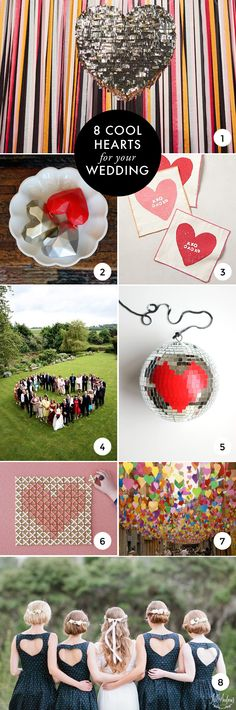 8 cool hearts to add to your wedding