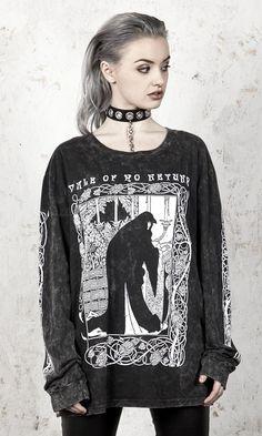 Vale Vintage Wash Long Sleeve T-Shirt - Disturbia Clothing