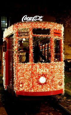 Tram with Christmas lights, Milan, Italy...for my Nonna e Nonno...mi manchi molto