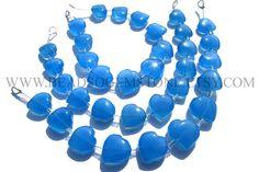Super Quality AAA Blue Chalcedony Beads In Valentine Heart #bluechalcedony #bluechalcedonybeads #bluechalcedonybead #bluechalcedonyheartvalentine #heartvalentinebeads #beadswholesaler #semipreciousstone #gemstonebeads #beadsoemtone #beadwork #beadstore #bead