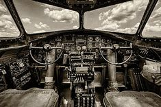 B-17 Photograph - Cockpit Of A B-17 by Mike Burgquist