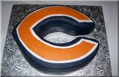 grooms cake, chicago bears cake...made with cupcakes
