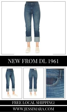 This is the 'Jerry' Kings Straight Blue Jeans by stunning brand, DL 1961. A straight fit with a contoured waistband. Relaxed through the thighs, the Jerry combines the look of vintage denim with modern comfort. King is a mid-indigo wash with an exaggerated cuffed hem. This is the perfect piece to carry you into the colder season!
