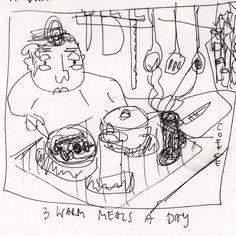 ©Michael Wlaschitz How To Run Longer, Workshop, Drawings, Art, Art Background, Atelier, Work Shop Garage, Kunst, Sketches