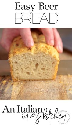 Keto Discover Easy Beer Bread Beer Bread this delicious easy to make Homemade bread is made with only 6 ingredients. Not too sweet perfect anytime especially warm out of the oven. It will become a family favourite. Grill Dessert, Dessert Bread, Dessert Recipes, Desserts, Healthy Bread Recipes, Best Keto Bread, Coconut Flour Bread, Almond Flour Recipes, Almond Bread