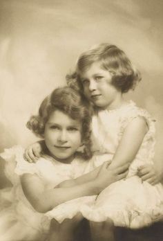 Princess Elizabeth with her younger sister, Princess Margaret