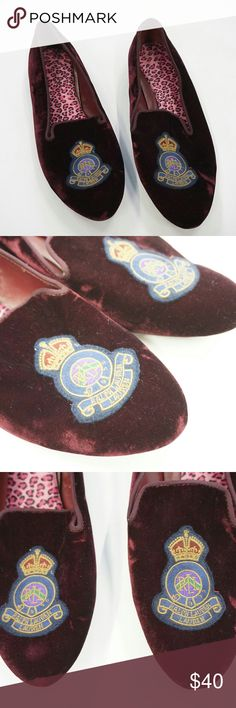 Nala slipper by Lauren ralph lauren PA661193 Deep red/burgundy velvet New without box. Lauren Ralph Lauren Shoes Slippers