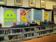 Seriously impressive library display! We have windows like this at my library, so maybe we can utilize a similar idea.